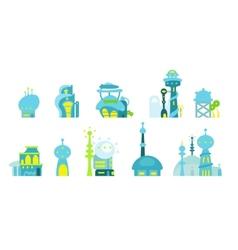 City future fantastic vector image