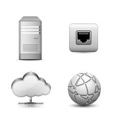 Cloud hosting vector image vector image