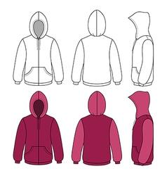 Hoodie sweater template vector image vector image