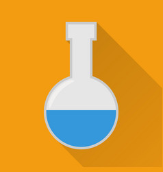 laboratory flask flat icon modern vector image