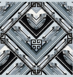 modern geometric meander seamless pattern grunge vector image