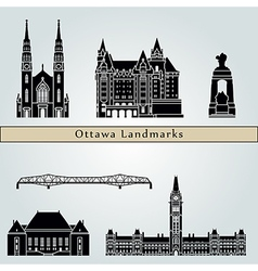 Ottawa V2 landmarks and monuments vector image vector image