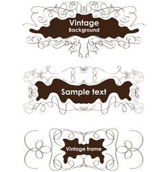 Vintage frames vignette borders vector image