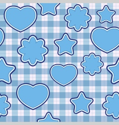 blue application - seamless pattern vector image