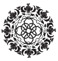 gothic ornament tattoo vector image vector image