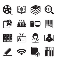 library icons symbol vector image vector image