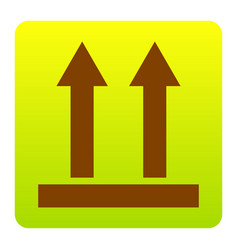 logistic sign of arrows brown icon at vector image