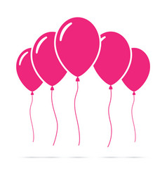 set of pink balloons vector image vector image