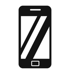Smartphone black simple icon vector image vector image