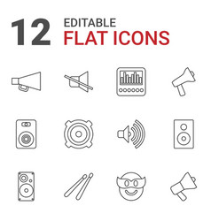 12 loud icons vector image