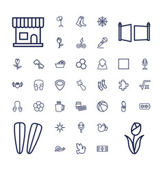 37 pattern icons vector