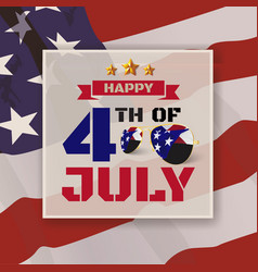 4th of july greeting card background vector image