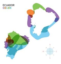 Abstract color map of Ecuador vector image