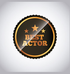 Actors awards design vector