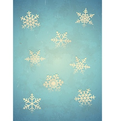 Aged card with snowflake vector image