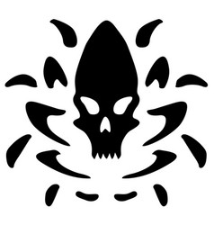 Alien skull emblem stencil vector