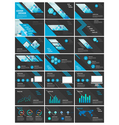 blue and black elements for infographics vector image