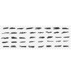 brush hand drawn scribbles doodle set vector image