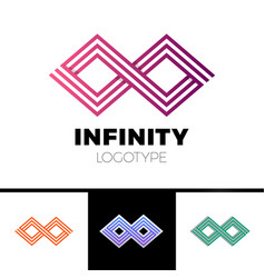 business infinity symbol abstract logo design vector image