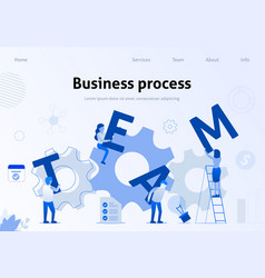 business process effective team interaction banner vector image