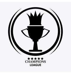 Champions league design vector image