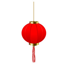 chinese new year red round chinese lantern vector image