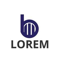 circle letter b construction icon logo design vector image