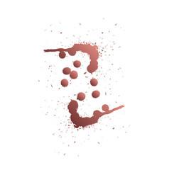 colorful paint splatterspaint splashes set vector image