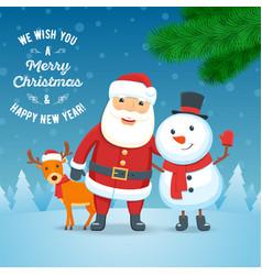 cristmas holiday greeting card 01 vector image