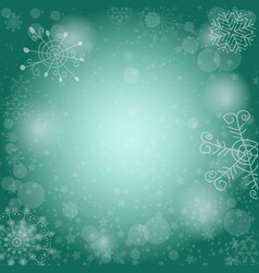delicate green christmas pattern vector image