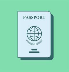 Documents identity flat line icon passport vector