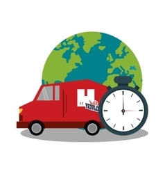 Fast delivery design vector