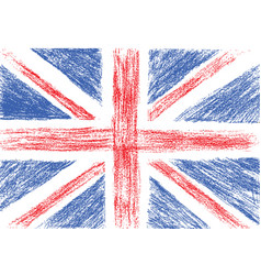 Flag of UK pencil drawing vector