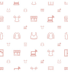 Front icons pattern seamless white background vector