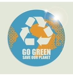 Go Green Eco Recycling Concept vector