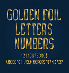 golden foil letters numbers dollar and euro vector image