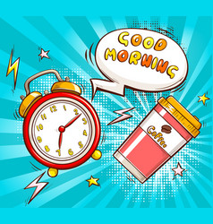 good morning cartoon banner template vector image