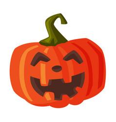 halloween scary pumpkin spooky creepy vegetable vector image
