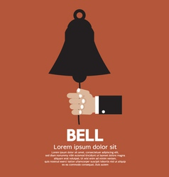 Hand ring a bell vector