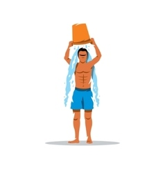 Hardening of the body Ice bucket challenge vector