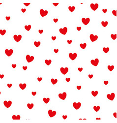 hearts love decorative pattern background vector image