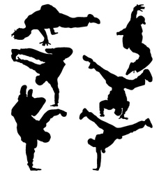 hip hop dancer vector image