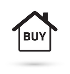 house with buy icon vector image