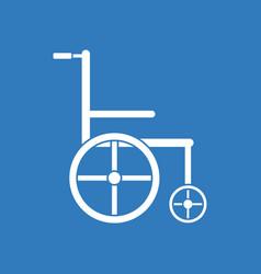 icon medical wheelchair vector image