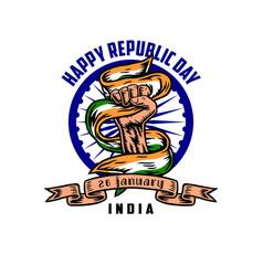 india happy republic day vector image