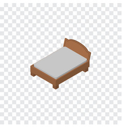 Isolated bed isometric bedstead element vector