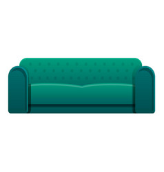 leather sofa icon cartoon style vector image