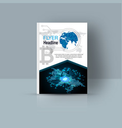 Magazine cover with abstract figures vector