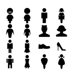Man and women icon vector image