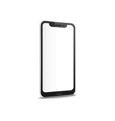 mobile smartphone with blank screen mockup vector image